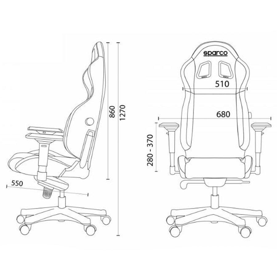 Fotel Biurowy Sparco R100 S Odzież Codzienna I Gadżety Fotele